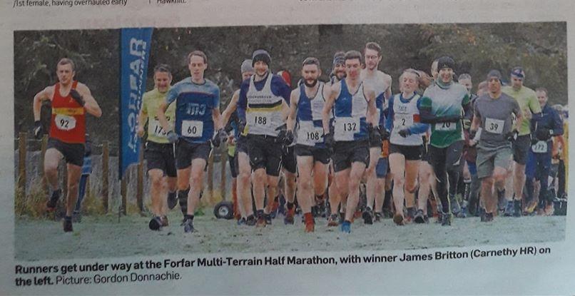 Forfar Multi Terrain Half Marathon - Courier Shot